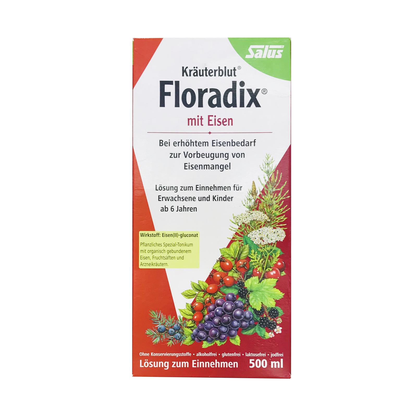 Floradix德国铁元营养(红)500ml