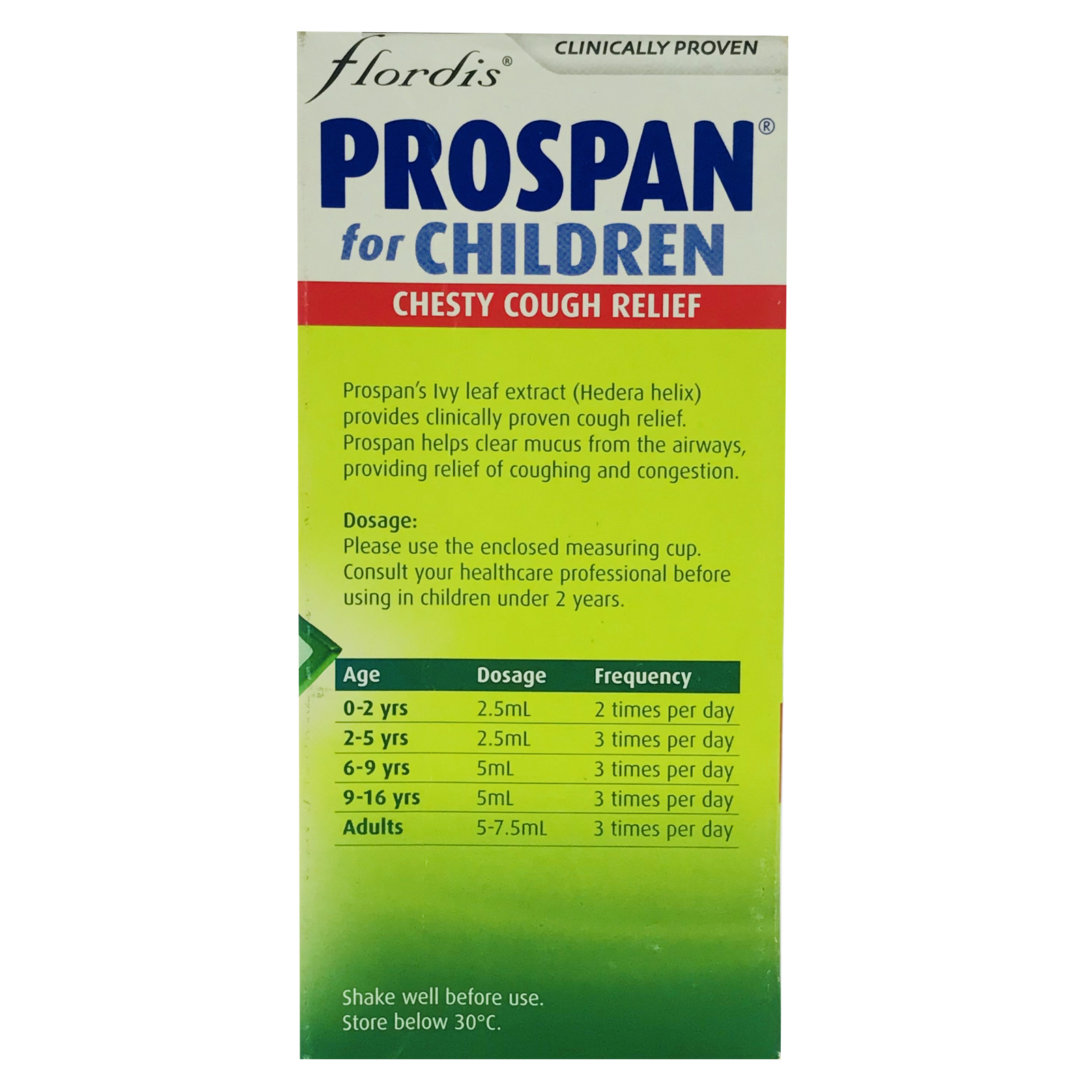 PROSPAN kids chesty cough relief 200ml (小绿叶小青蛙止咳糖浆)