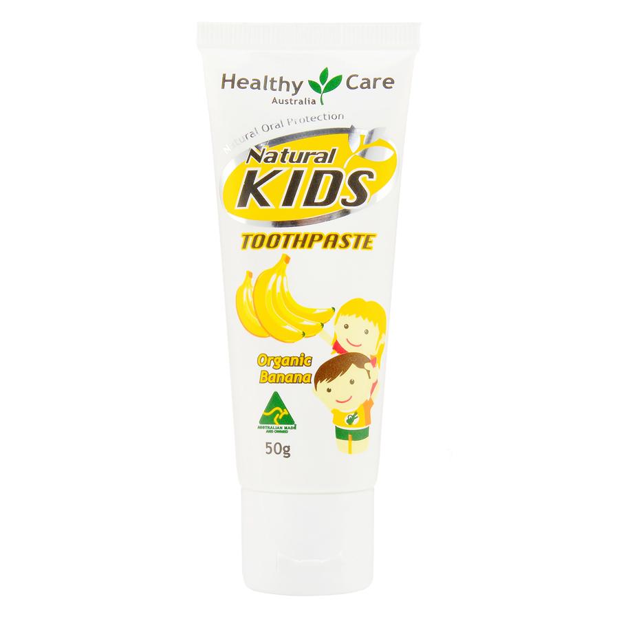 Healthy Care 天然儿童牙膏有机香蕉味 50g