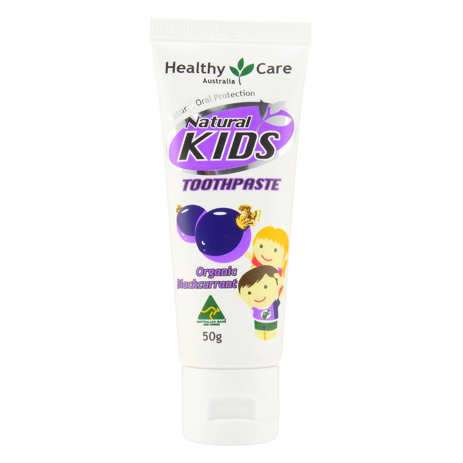 Healthy Care 天然儿童牙膏有机黑加仑子味 50g