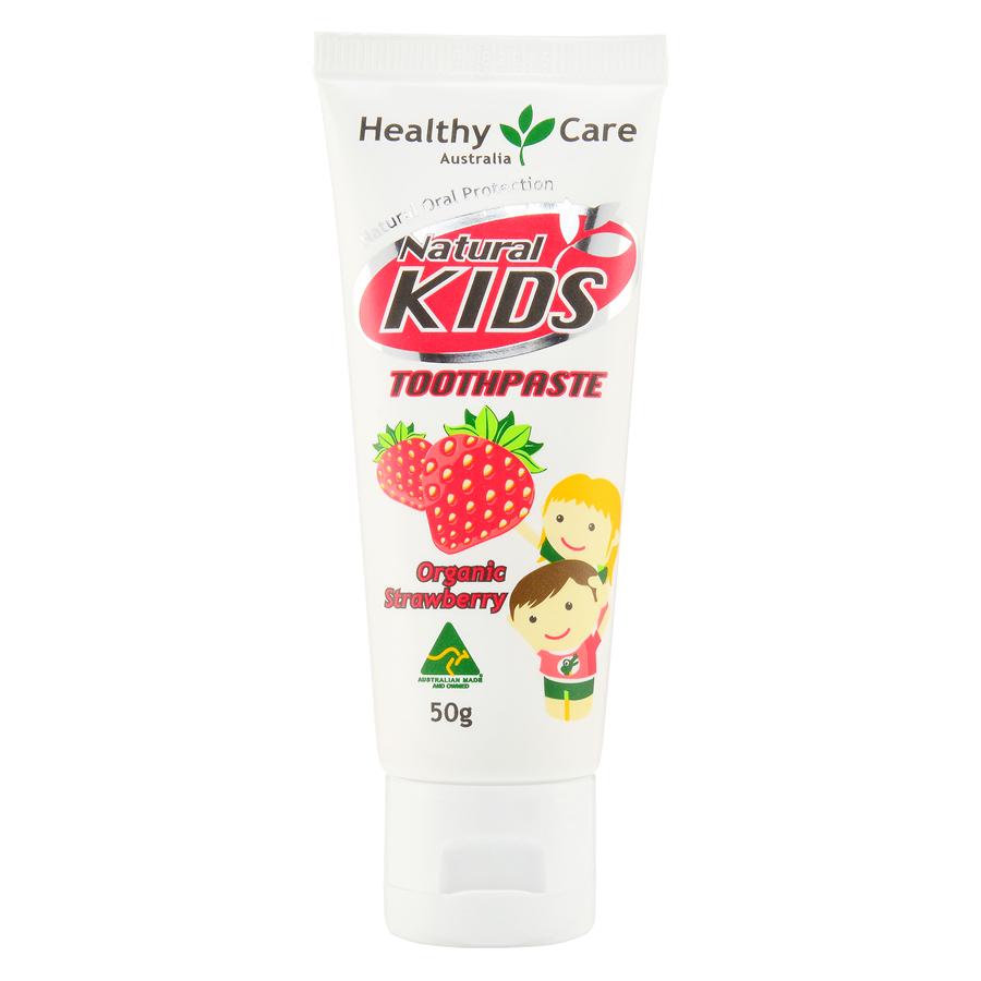 Healthy Care 天然儿童牙膏有机草莓味 50g