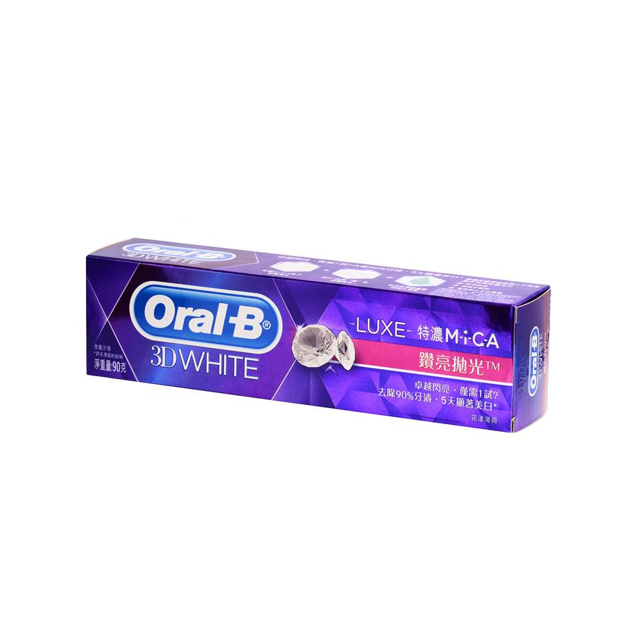 Oral B 3D LUXE钻亮抛光花漾薄荷牙膏90克