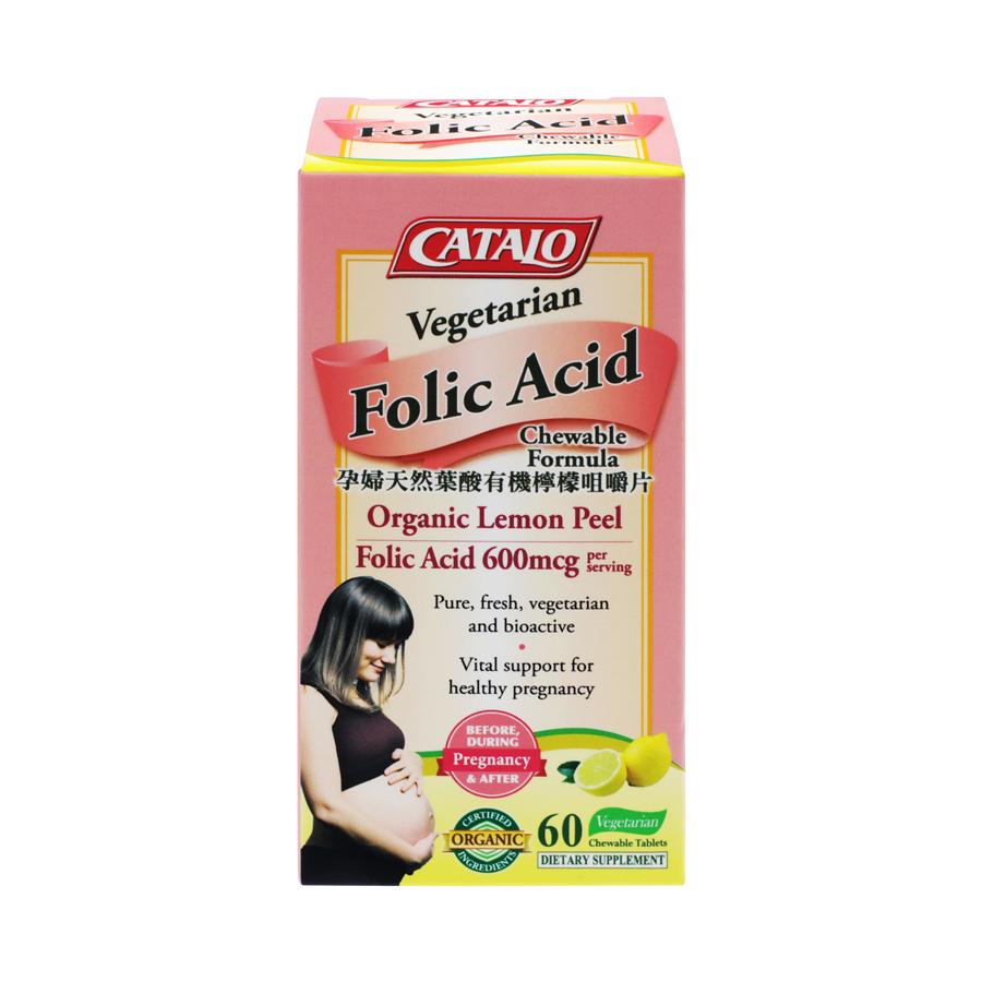 Catalo 美国 家得路 - 孕妇天然叶酸有机柠檬 咀嚼片 60粒