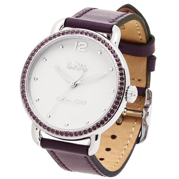 COACH 德蘭西皮革錶帶女裝手錶