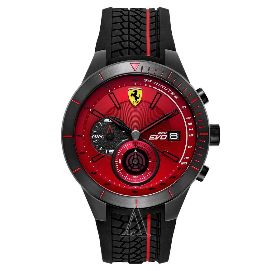 Scuderia Ferrari 法拉利賽車型格紅面男裝錶