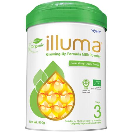 港版惠氏ILLUMA启赋有机婴儿配方奶粉3段 900g