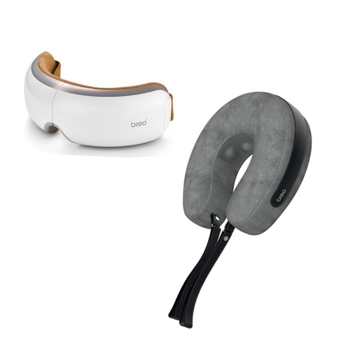 BREO倍輕鬆 iSee4眼部按摩器 + iNeckAir空氣按摩器 套裝