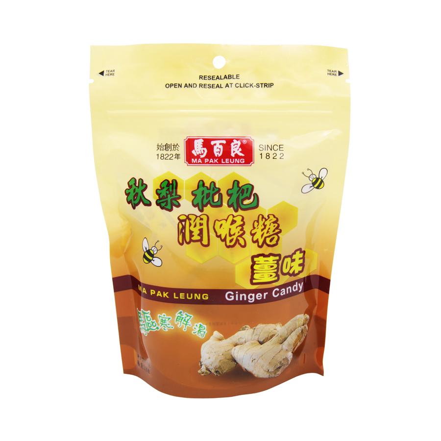 马百良 - 秋梨枇杷 润喉糖 (姜味) 18粒 [包装]